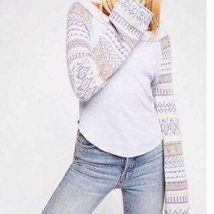 FREE PEOPLE Fairground Thermal Sweater S NWT